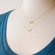 Long Chain Necklace Pendant Costume Jewelry Gold/Silver Three Peach Heart Gift