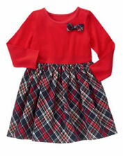 NWT Gymboree HOLIDAY SHOP 18-24months 2T 5T Red and Plaid Bow Dress