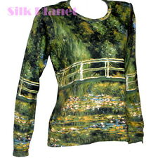 CLAUDE MONET Japanese Bridge Water Lilies LANDSCAPE LS T SHIRT FINE ART PRINT *
