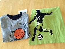 NWT Gymboree Boys T Shirt Soccer Basketball SZ 5 7