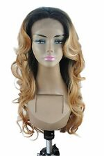 """14-26"""" Front Lace Wigs Body Wave Synthetic Ombre Piano TColor Full Wigs 1B27613-"""
