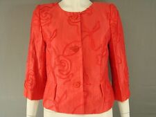 BEAUTIFUL BNWT KALIKO MID ORANGE RIBBON TRIM LINEN JACKET SIZES 8-18 - RRP £110