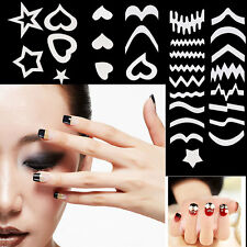 11 Styles French Manicure Nail Art Tips Form Guide Sticker Polish DIY Stencil