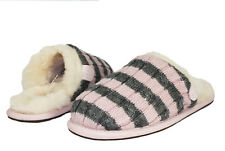UGG BIG KIDS SLIPPERS SWEATER KNIT SCUFFETTE STRIPE