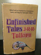 JRR Tolkien - Unfinished Tales 1st/1st US BCE 1980 Hardcover