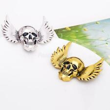 Vintage Goth Silver/Gold Angle Wings Halloween Skull Fashion Jewelry Pin Brooch