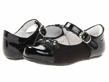 Kid Express TODDLER GIRLS Dress Shoes Sharina Flats Mary Janes Black Floral new