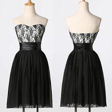 New Short Chiffon Lace Cocktail Homecoming Ball Prom Party Formal Evening Gown
