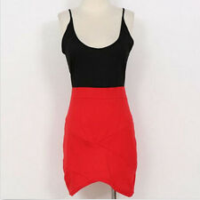 Hot Mixed Colors Fashion Sexy Suspenders Low-Cut Dress  Tight Package Hip