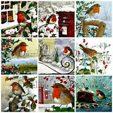 18 Christmas Robins Ideal Journal Card/Toppers/Card/Scrap Page/Altered Art