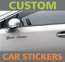 2 x Personalised Custom Adhesive Car Bumper Stickers Vinyl Name Lettering Decals
