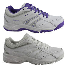 SLAZENGER BASELINE LACE UP WOMENS LEATHER SPORT SHOES/TRAINERS/WORK/SCHOOL SHOES