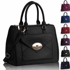 Designer Brand New Ladies Women Stylish Fashion Tote Shoulder Handbag Medium Bag