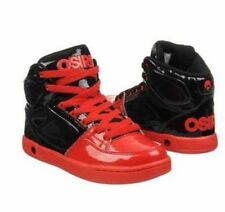 Osiris Boys / Girls Red Black High Top Crooklyn Skater Shoes Size 4 or 6 New