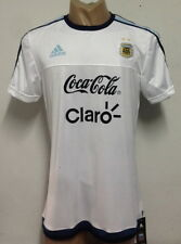 NEW!!! 2015 ARGENTINA TRAINING JERSEY WITH SPONSORS WHITE
