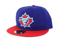 New Era TORONTO BLUE JAYS Fitted MLB Hat Authentic Cap 59Fifty Vintage Throwback