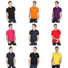 Polo Club Mens Plain Short Sleeve Cotton Polo Shirt With Embroidered Logo