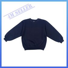 Boys Girls Kids Fleecy Fleece School Wear Uniform Jumper Sz Sweatshirt Navy