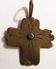Southwest Style Antique Replica Catholic Cross Sterling or Bronze  #998