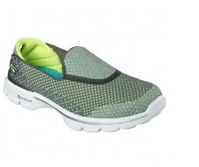 Skechers ~ Women's Go Walk 3 GO KNIT ~ Low-Top Sneakers/Shoe ~ GREY/LIME