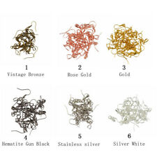 20pcs Brass French Ear wire Earring Bail Hook Pinch Earring Finding 6 Colors