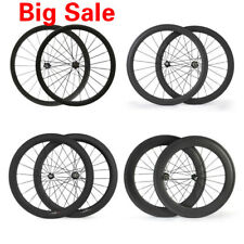 700C 38/50/60/88mm Carbon Wheels Carbon Cycling Road Bike Bicycle Touring Wheels