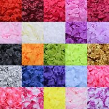 DIY 100pcs Silk Rose Flowers Petals for Wedding Party Table Confetti Decoration