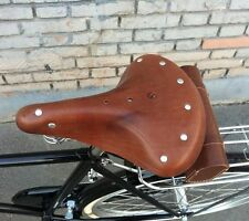 Vintage Classic Comfort Leather Cruiser Bike Bicycle Bike Cycling Saddle Seat