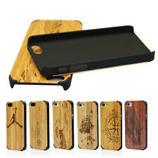 Wooden Case for iPhone 4 4s Case Carving Natural Bamboo Wood  PC Pattern Cover