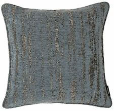 McAlister Textiles Metallic Textured Chenille Denim Blue Scatter Cushion & Cover