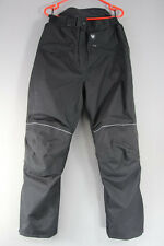 FRANK THOMAS BLACK TEXTILE BIKER TROUSERS + CE ARMOUR & THERMAL LINING: L & 3XL