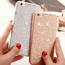 New Luxury Bling Glitter Geometry Soft Plastic Case Cover for iPhone 6 6S 6 Plus