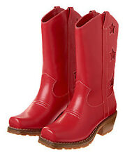 Gymboree 4th of July Red Star Cowgirl Boots Star Spangled NEW 10 13 1