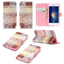 Stylish Two Flowers -MDYB Design Card Wallet Leather Case Cover For Call Phone