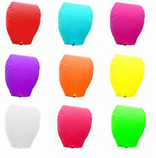 9 Color Pick Wishing Lantern Chinese Paper Sky Flying Float Party Wedding Lampse