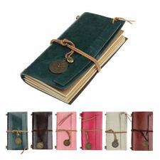 Retro Classic Vintage Faux Leather Bound Blank Pages Journal Diary Notebook 2015