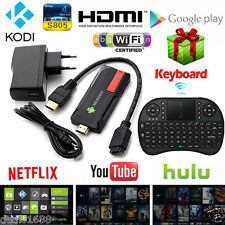 HD 1080P Bluetooth Mini PC TV Box Stick Media Player Android Quad Core WiFi HDMI