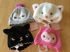 NWT Gymboree BaBy Girls Winter Sweater Hat NB 3-6 18-24mo Owl fox bear Kitty