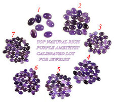 TOP NATURAL RICH PURPLE AMETHYST CALIBRATED 14 x 10 MM /7-35 PCS LOT FOR JEWELRY
