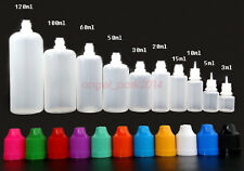 Wholesale 11-colors 3ml -120ml Plastic Squeezable Dropper Bottle Liquid Eye LDPE