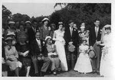 Old Vintage Wedding Photograph Black & White Photo Guests Bridesmaids Bride 1959
