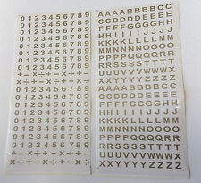 400 Numbers Letters Self Adhesive Peel Off Sticker Alphabet Digits Stick On + -
