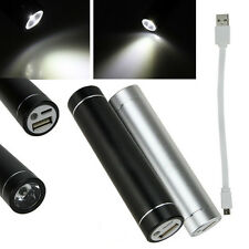 2600mAh Power Bank With LED Flashlight Portable Universal Charger for Cell Phone