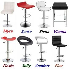 2X New PU PVC Leather Bar Stool Kitchen Chair Gas Lift Black White Red free post