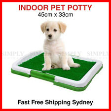 Dog Pet Potty Indoor Training Trainer Toilet Tray Grass Portable Mat Loo Small