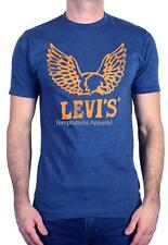 LEVI'S MEN'S SHORT SLEEVE TEE GRAPHIC COTTON T-SHIRT EAGLE WINGS PRIDE BLUE NAVY