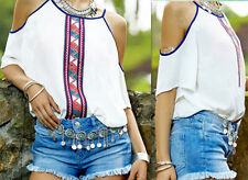 Tank Casual Womens Blouse New T-Shirt Short Sleeve Chiffon Tops Fashion