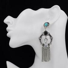 Women Vintage Fashion Bohemian Boho Style Water Drop Turquoise Earrings Jewelry