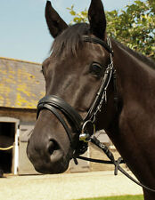 Heritage English Leather Comfort Bridle With or Without Flash Black & Havana