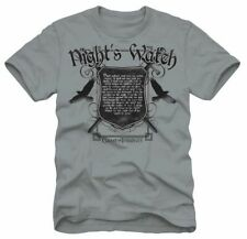 Adult Men's Gray TV Show HBO'S Game of Thrones Nights Watch Oath T-shirt Tee